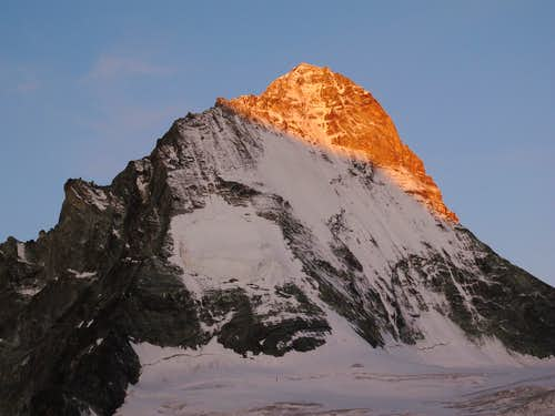 First early morning light on Dent Blanche