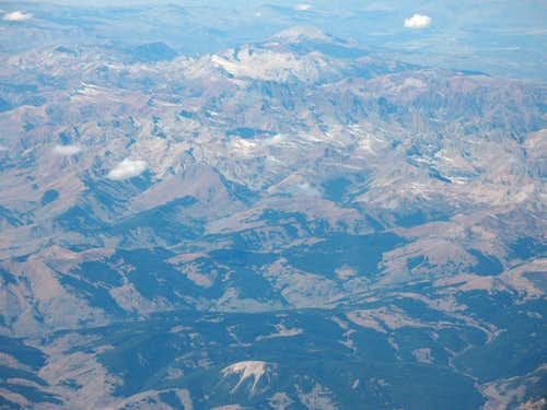 Elk Mountains from the sky
