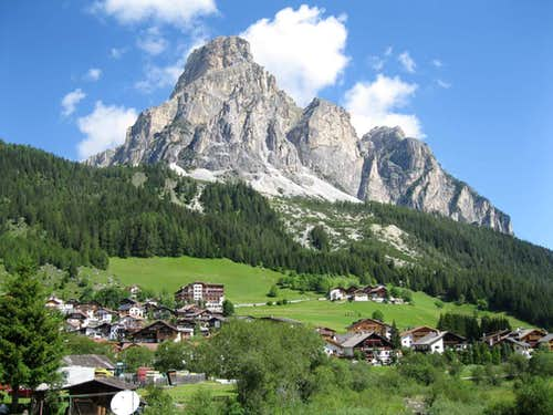 Sassongher from Corvara