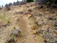 Eroded west slope trail