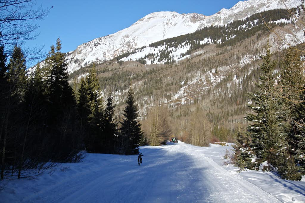 Groomed trail at Ironton