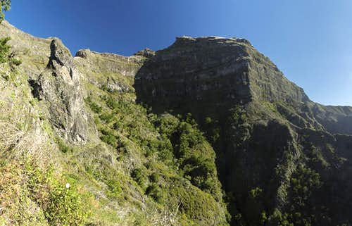 West and south faces of Pico Grande
