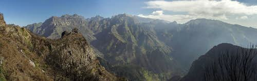 Madeira\'s mountain range