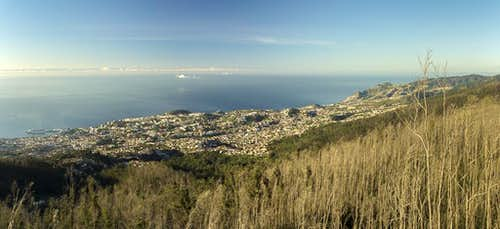 View from Pico Alto to Funchal