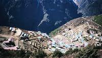 Namche Bazaar viewed from...