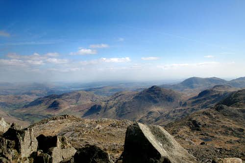The view South East from Bowfell