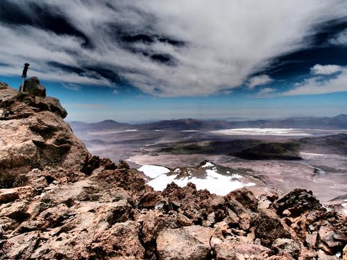 Summit view over the chilean Atacama desert