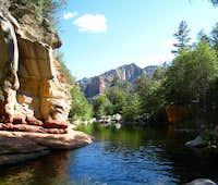 Looking through Oak Creek Canyon