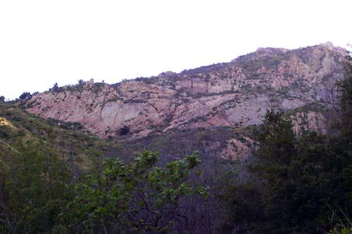 Rock slabs near the trail