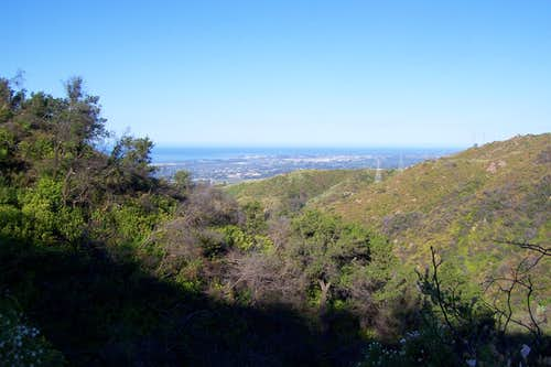View looking toward the ocean