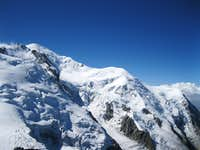The Mont Blanc seen from Aguille du midi