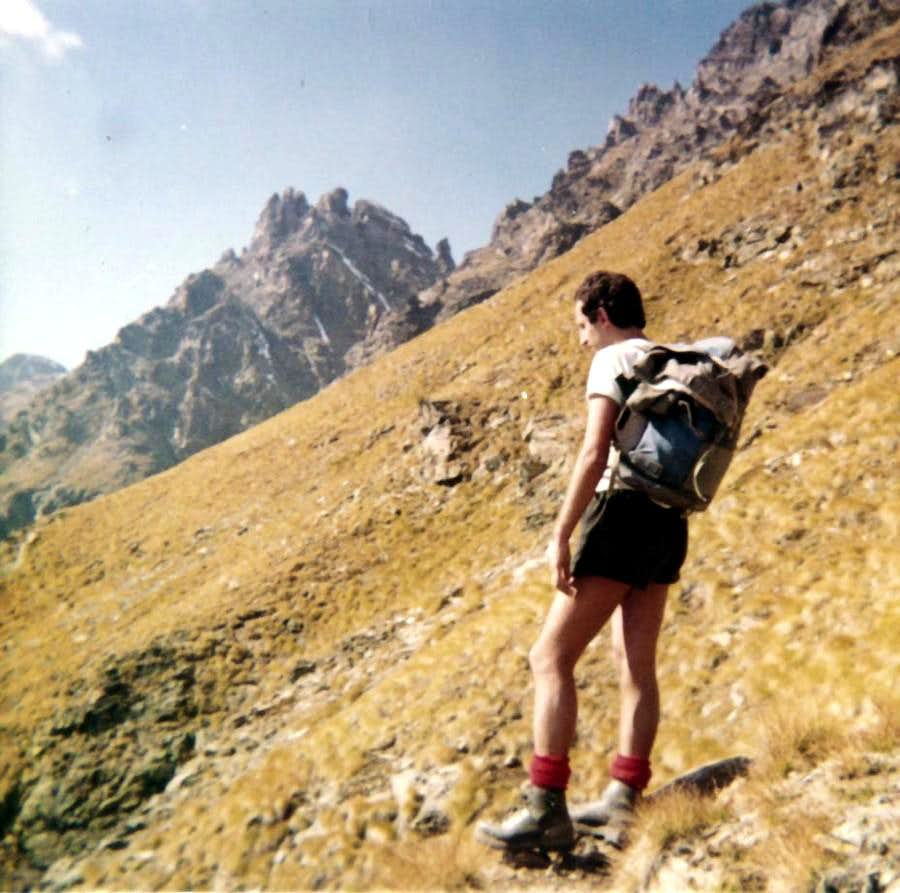 The indented Quota 2888m on Senevé's watershed 1972