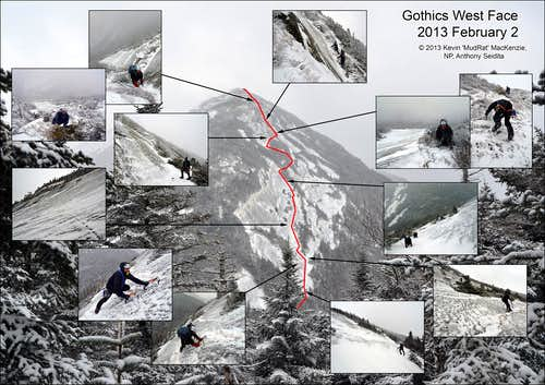 Winter on Gothics West Face and Saddleback's Catastrophic Chaos Slide