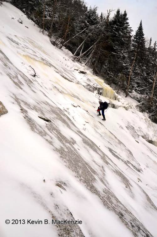 Saddleback Slide, Lower Climb