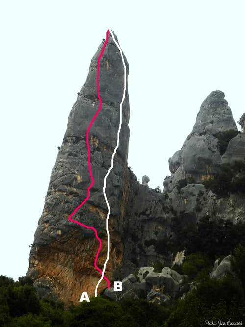 Aguglia di Goloritzé West face routes