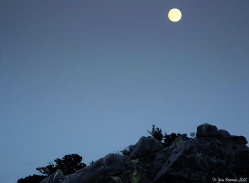 Moon-rise over Baunei tableland