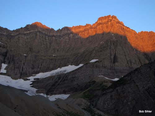 Dawn on the Cirque Walls Above Cracker Lake