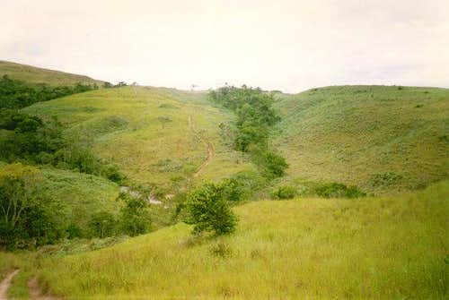 The section of the trail near...