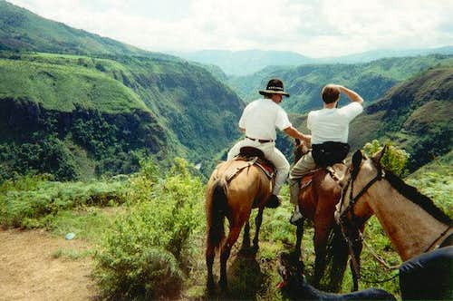 Gorge below Pilimbala on...