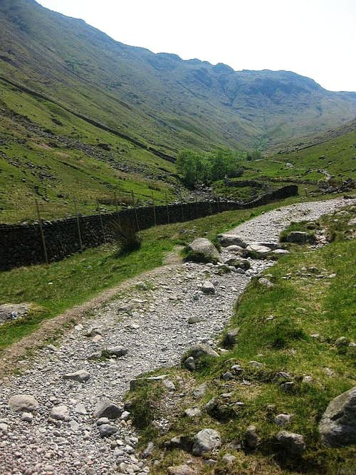 Path along Grains Gill, just south of Stockley Bridge