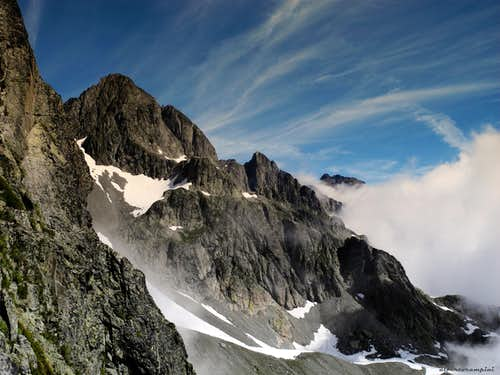 Plays of clouds over Aiguilles Rouges