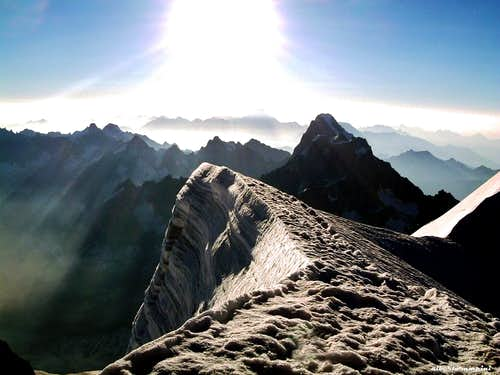 The summit of Mont Blanc du Tacul