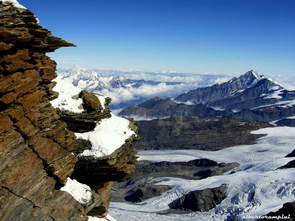 Eastern Lyskamm summit ridge