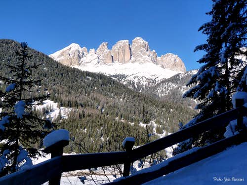 The Val di Fassa side of Sassolungo