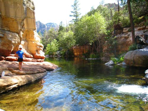 Rock Beach in Oak Creek Canyon