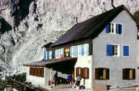 Rifugio Coldai in Civetta Northern branch
