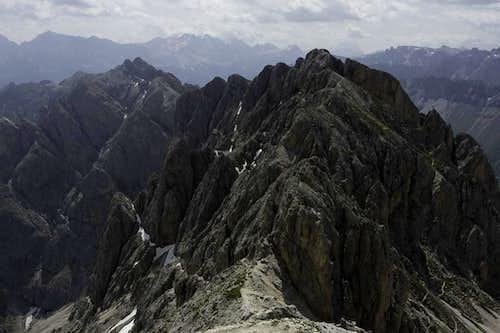 The ridgeline of the Aferer Geisler