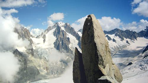 Panoramic view of Aiguille d\'Argentière