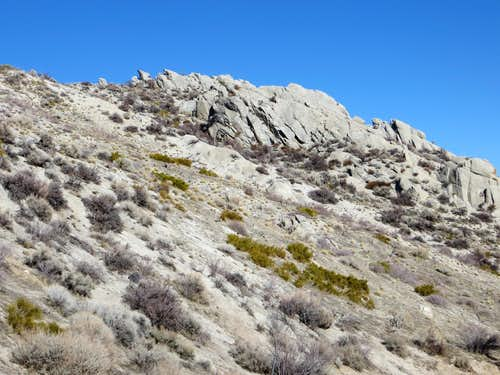 Cool rock formation on the south side of Peak 6345