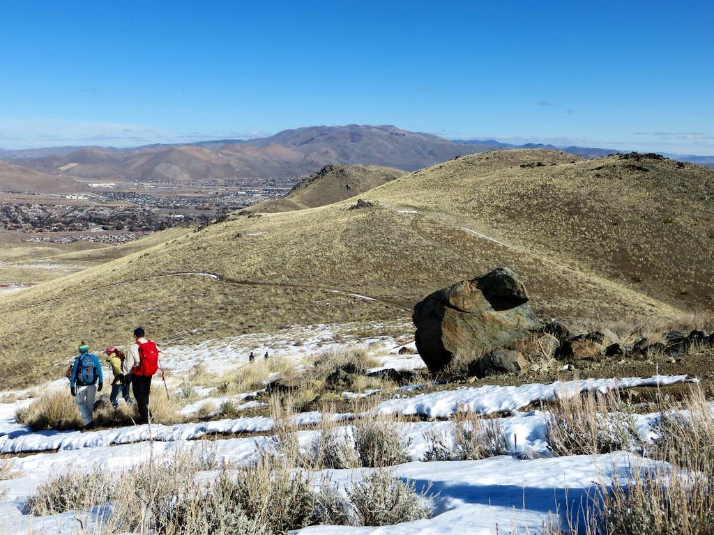 Heading down the northwest side of Peak 6345
