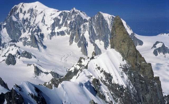 Rochefort ridge from Aiguille...