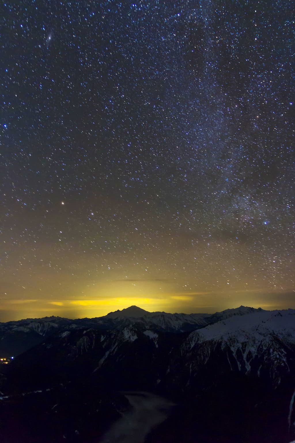 Mt. Baker and the Milky Way