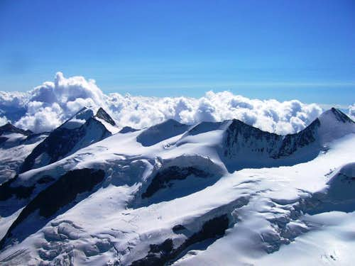 Piz Bernina summit view