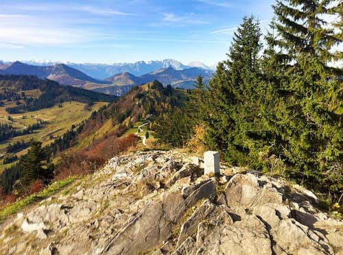 On the top of Zwölferhorn in autumn