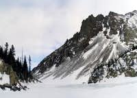 Nokhu Crags as seen from Lake...