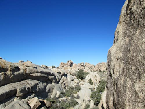 Huge boulders inside the Hidden Valley Campground, Joshua Tree National Park