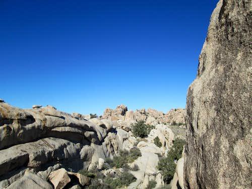 Huge boulders inside the Hidden Valley Campground, Joshua Tree National Park