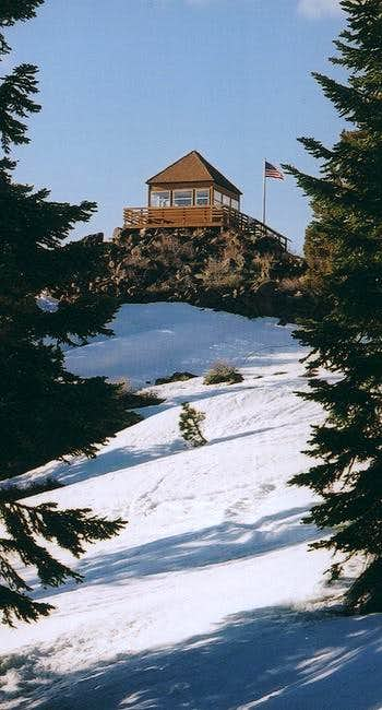 The Fire Lookout from below.