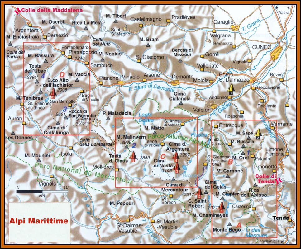 Map of French Alps Maritime Alps Full Map