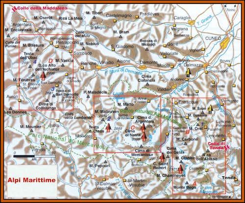 Maritime Alps full map