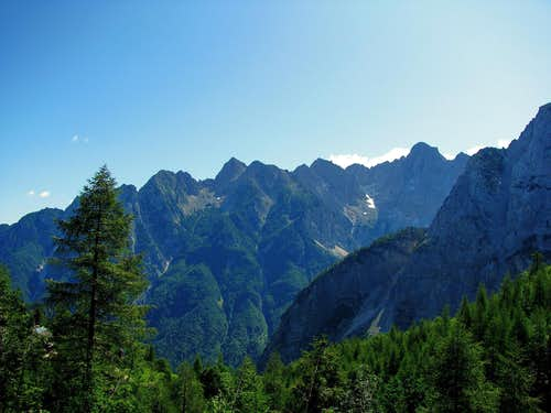 Summits of Julian Alps with Skrlatica and Spik