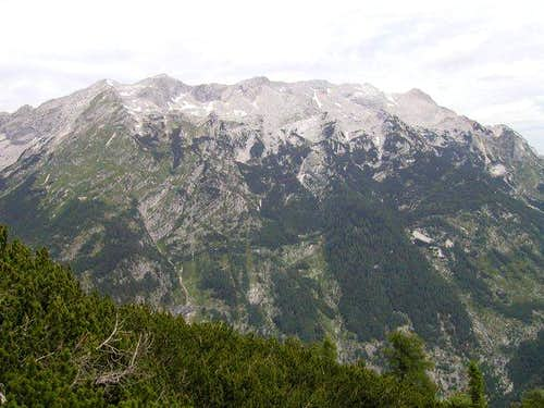 The Mojstrovke ridge and...