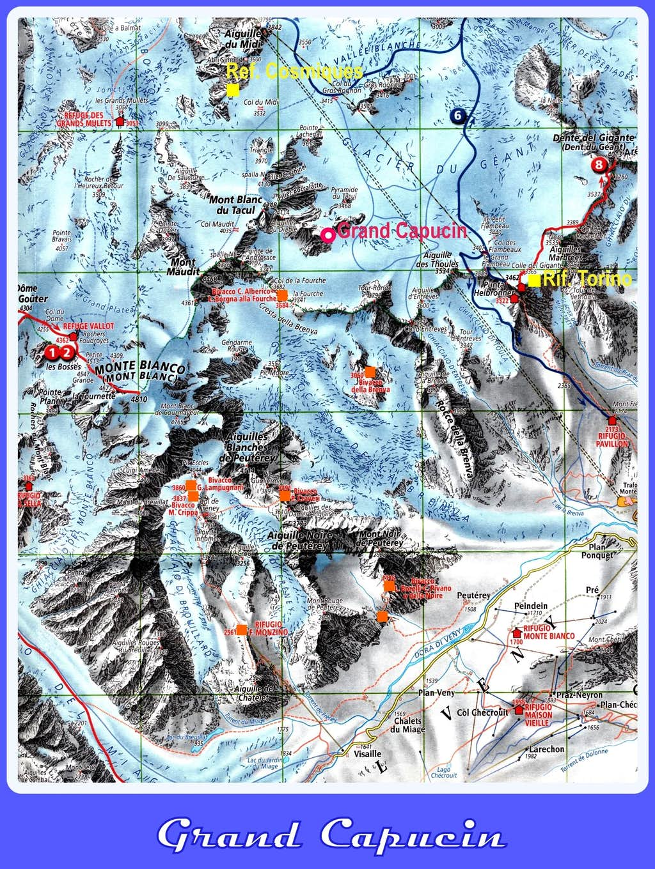Mont Blanc map
