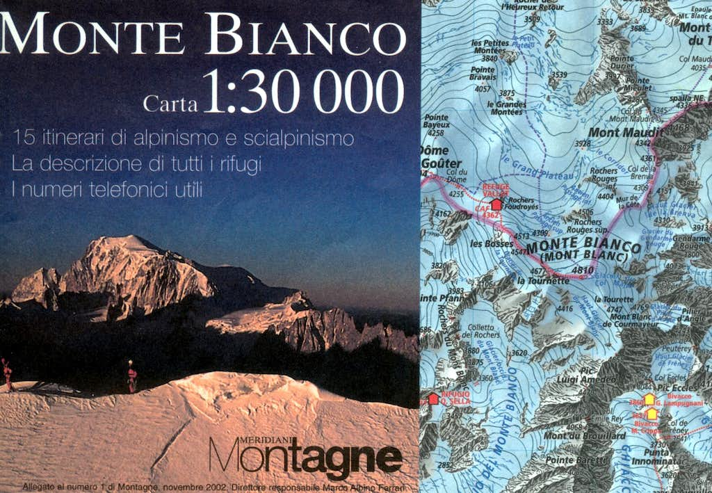 Monte Bianco Map