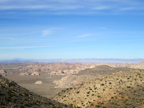 The Wonderland of Rocks seen from partway up Ryan Mountain, Joshua Tree National Park