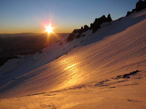 Sunset from Avalanche Gulch